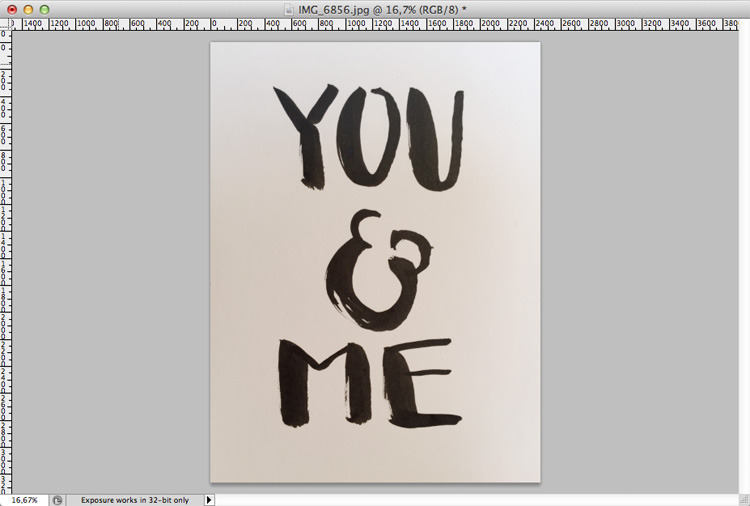Brush Lettering Photoshop