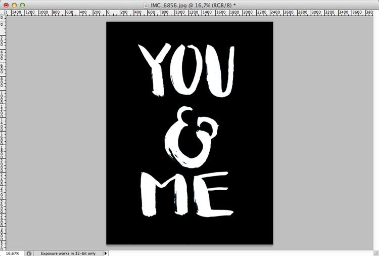 Brush Lettering Photoshop Invertieren
