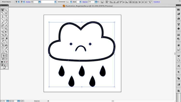 Regenwolke_Illustrator