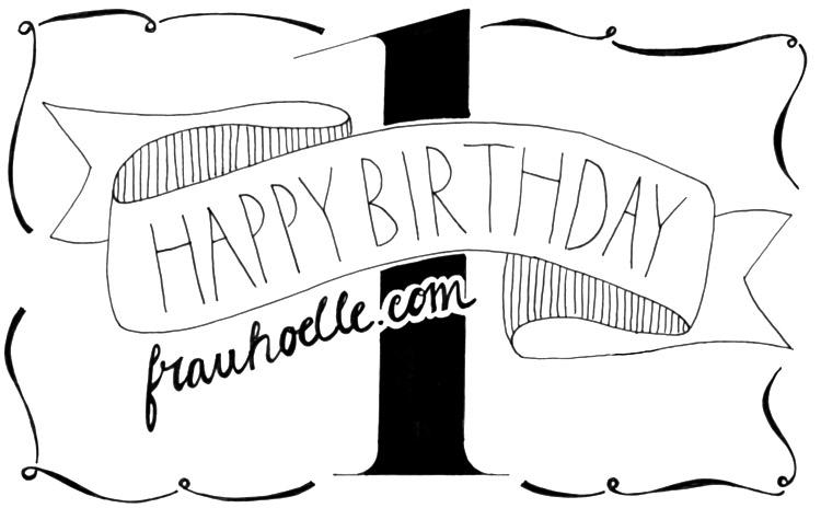 Blog Geburtstag 1