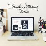Dein eigenes Brush Lettering zum Valentinstag <br /> (Tutorial inkl. Free Printables)