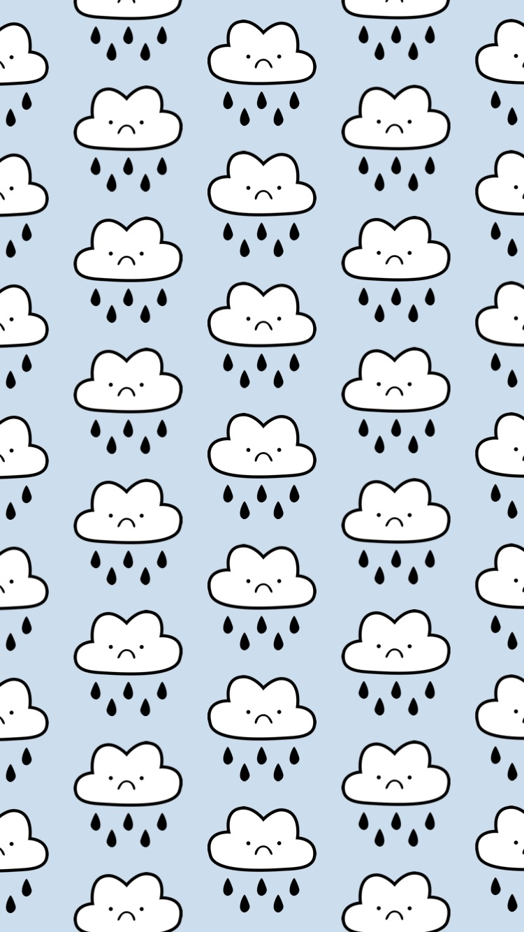 Illustration_Regenwolke_iPhoneWallpaper