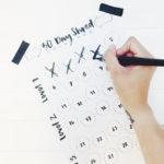 Weg mit dem Speck! Die 30 Tage Shred Challenge mit Brush Lettering Trainingskalender (Freebie)