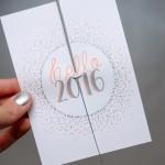 #letterattack Lettering Lessons – Neujahrskarte mit Brush Lettering